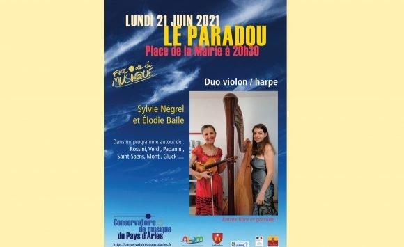 Fête de la musique au Paradou, avec les professeurs du Conservatoire