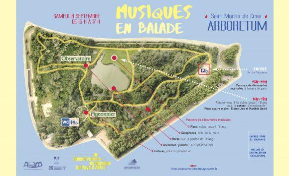 «Musiques en balade» à Saint-Martin-de-Crau : le plan