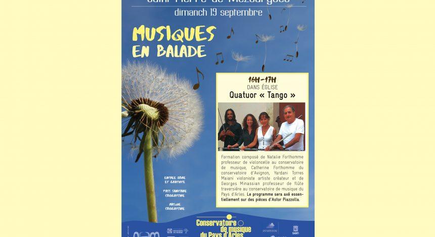 «Musiques en balade» à Saint-Pierre-de-Mézoargues, dimanche 19 septembre