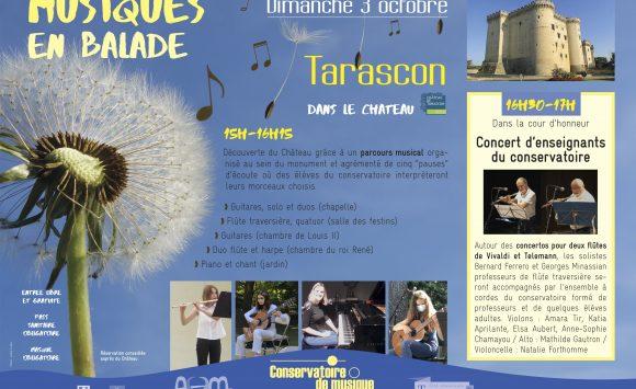 « Musiques en balade » au château de Tarascon, dimanche 3 octobre, 15h