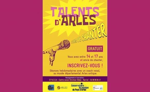 Talents d'Arles, à vous de chanter !